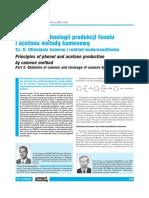 Podstawy technologii produkcji fenolu i acetonu metodą kumenową