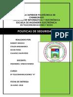 Politicas de Seguridad RO KP SA CV