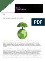 Prácticas Del Desarrollo _ El Informe Brundtland, 1987-2012