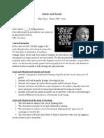 gender syllabus sample