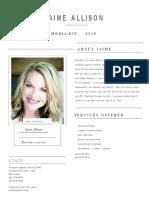 Jaime Allison Media Kit