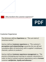 Why Transform the Customer Experience