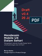 Mendesain Mobile UX Dalam Sehari Untuk Pemula Oleh Borrys Hasian DRAFT v0.4 26 January 2019