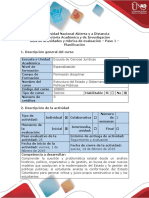 Guía de Actividades y Rúbrica de Evaluación - Paso 1 - Planificación