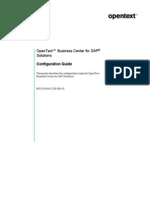 OpenText Business Center for SAP Solutions 16 3 1