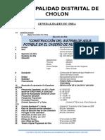 3.- Generalidades de Obra