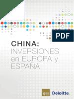 Inversiones Chinas Europa Espana Deloitte