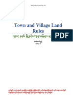 Myanmar Town& Village Land Rule