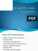 Fdi and India Perspective