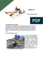 Boletin 11 de correo real de las Mariposas Monarca. Temporada 2010-2011