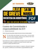Custeio do CorreioSaúde é responsabilidade da ECT _ Correios do Brasil - Funcionários.pdf