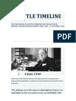 Battle of Britain Timeline