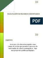 Facilitación de Procesos Comunitarios (1) Presentación
