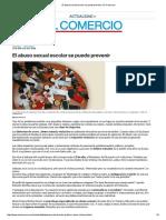 Abuso Sexual Escolar Se Puede Prevenir _ El Comercio