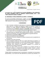 Acuerdo 011 Plan de Desarrollo Para Impresion