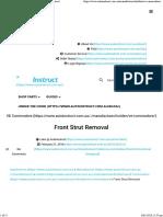 Front Strut Removal