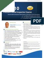 Petrosync - API 510 Pressure Vessel Inspector Course 2019