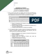 TALLER N°3 VOLUMENES DE TRÁNSITO