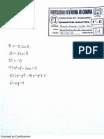 Ejercicos de Geometria Analítica