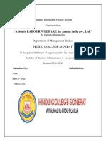 Arun Summer Training Report