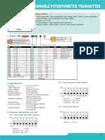 Potentiometer Transmitter PF-KCBP