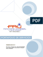 Portafolio de Servicios Fotografia Fau