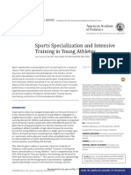 Sports Specialization and Intensive