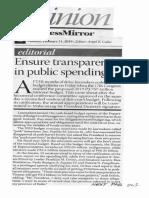 Business Mirror, Ensure transparency in public spending.pdf