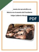 El incremento de narcotráfico en  México en el sexenio del Presidente  Felipe Calderón Hinojosa.docx