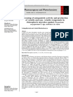 Screening of antagonistic activity and production of volatile and non- volatile compounds by rhizospheric microbes against Fusarium oxysporum f. sp. cubense in vitro
