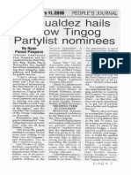 Peoples Journal, Feb. 11, 2019, Romualdez hails fellow Tingog Partylist nominees.pdf