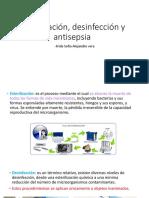 Esterilizacion, desinfección y antisepsia