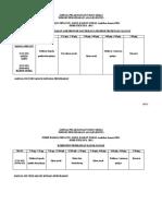 Jadual Pelaksanaan Ujian Amali Pjm3102(e) 2011
