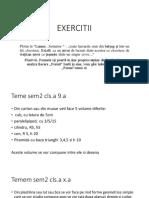 EXERCITII pt STUFO