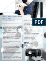 Nokia 5800 Xpressmusic Data Sheet