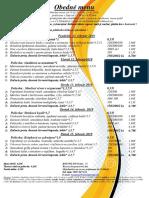 obedné menu  11 . 02 .  - 15 . 02 . 2019