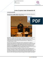 Detenuti e lavoro. La pena come strumento di rieducazione - Altrogiornalemarche.it, 8 febbraio 2019