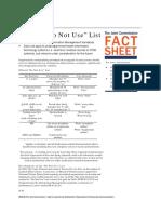 Do Not Use List 9-14-18