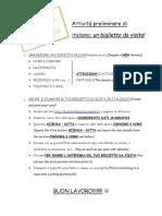 attivita preliminare di italiano stampare il biglietto da visita