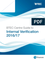 BTEC Centre Guide to Internal Verification