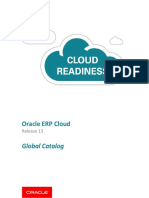 Oracle R13 Cloud Global Catalog