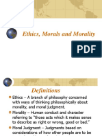 Ethics Morals Morality Final DONE