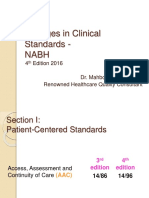 Changes in Clinical Standards Nabh-2016