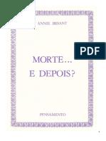 Annie Besant - Morte... E Depois