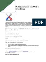 Installing VMWARE Server on CentOS 5 or Red Hat Enterprise Linux Version & Linux Wger