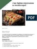 Cómo Preparar Las Fajitas Mexicanas