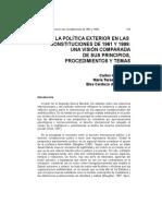 La Politica Exterior en Las Constitucion de 1961 y 1999 Una Vision Comparada de Sus Principios