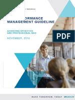 Performance Management Guideline