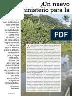 Nuevo ministerio para la Amazonía