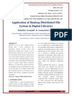 Application of Hadoop Distributed File System in Digital Libraries